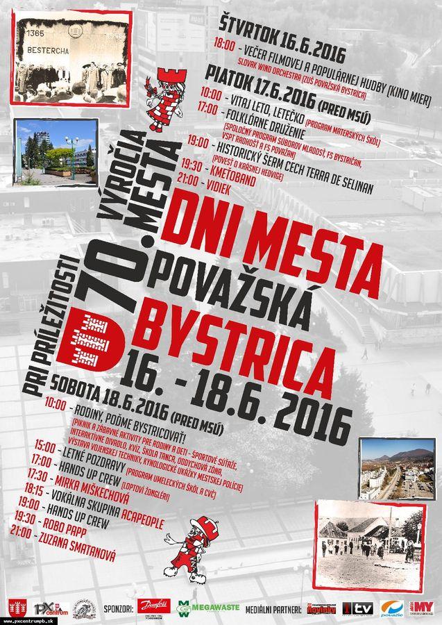 f8386612de Dni mesta Považská Bystrica - Slovakia.travel